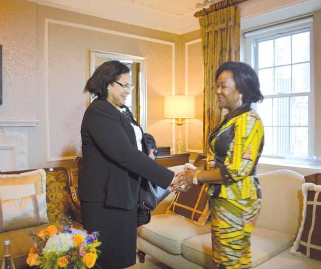 Antoinette Sassou Nguesso reçoit plusieurs personnalités du monde de la Santé 2