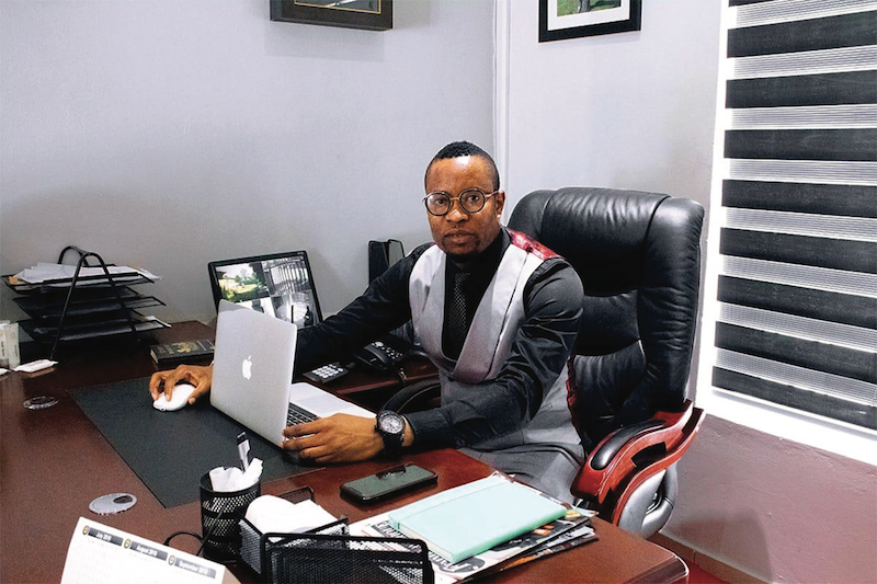 """Prince Roland OKONGBE a successful nigerian businessman in South Africa """" My wife is part of the pillar of my success. She is not only my wife but a business partner. I rarely make any major business decision whithout consulting her"""""""