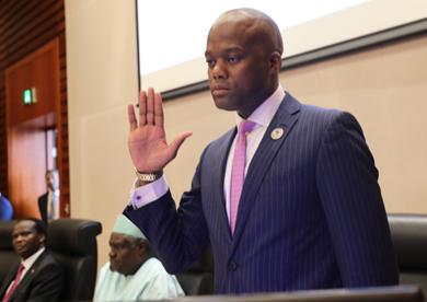 Secrétariat de la Zone de libre-échange continentale africaine Le Sud-Africain Wamkele Mene a prêté serment
