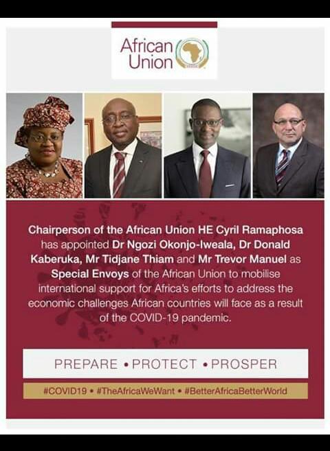 UA-COVID 19: UNE OPINION SUD AFRICAINE CONTESTE LA NOMINATION DES ENVOYÉS DE L'UA.